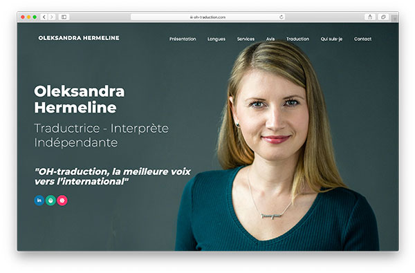 Oleksandra Hermeline - Traductrice à Annecy